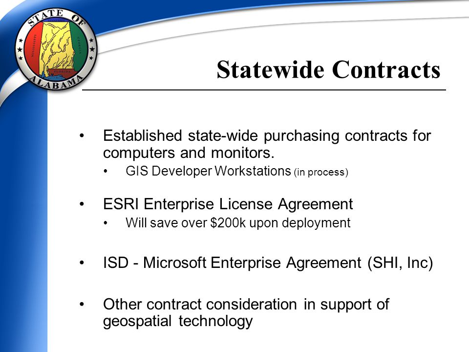 Established state-wide purchasing contracts for computers and monitors.
