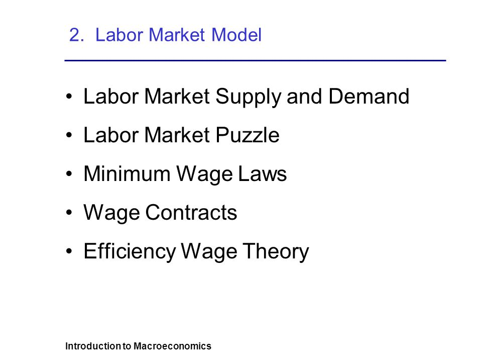 Introduction to Macroeconomics 2.