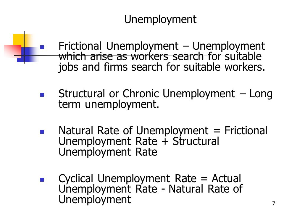 7 Unemployment Frictional Unemployment – Unemployment which arise as workers search for suitable jobs and firms search for suitable workers.