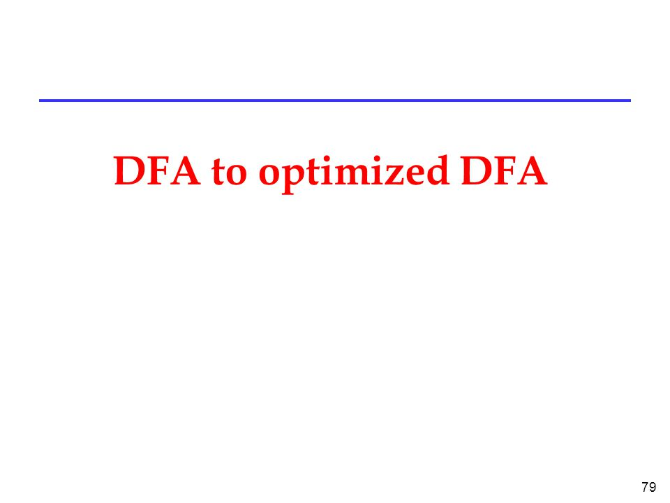 79 DFA to optimized DFA