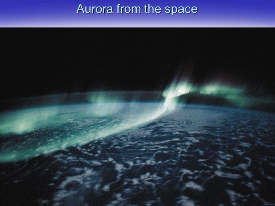 Aurora from the space