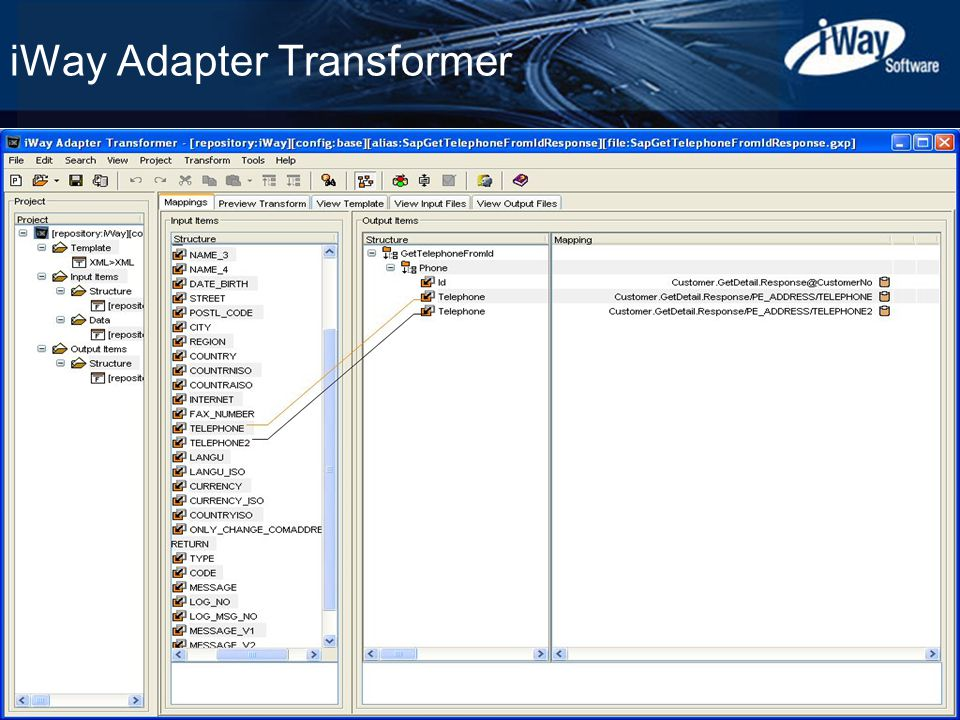 Copyright © 2003 iWay Software 14 iWay Adapter Transformer