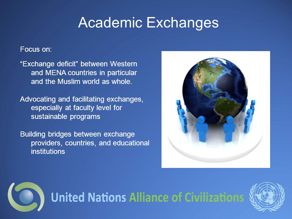Academic Exchanges Focus on: Exchange deficit between Western and MENA countries in particular and the Muslim world as whole.