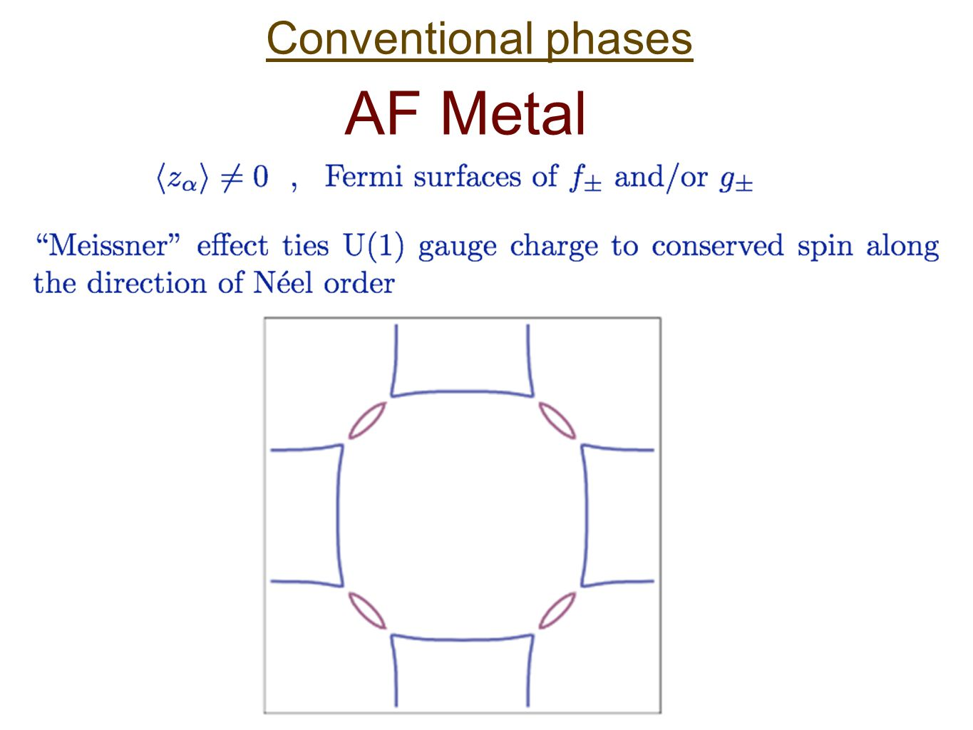 Conventional phases AF Metal