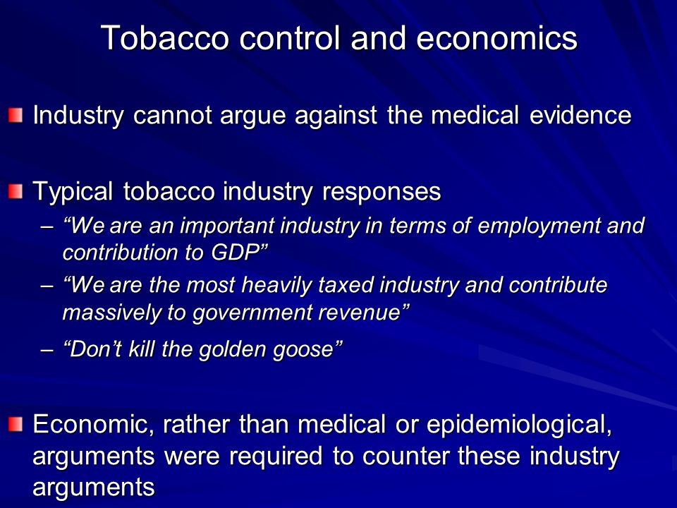 tobacco and the economy