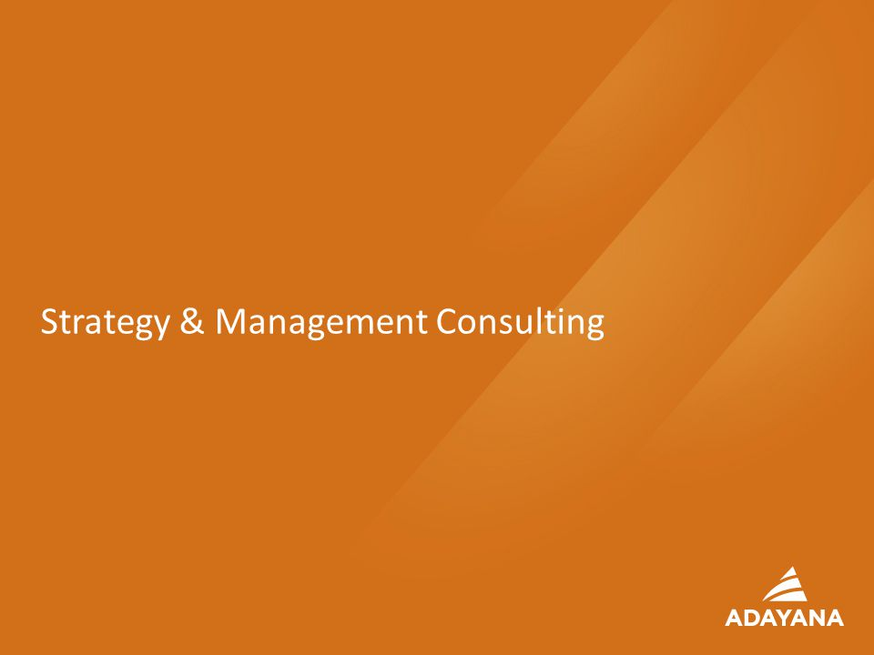 26 Strategy & Management Consulting