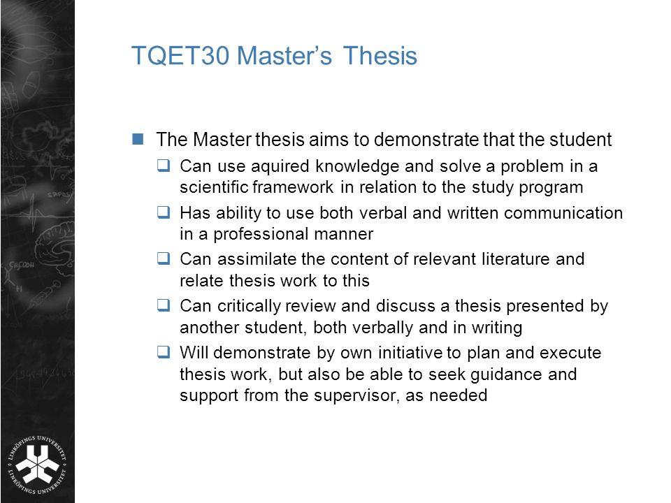 Master thesis telecommunication