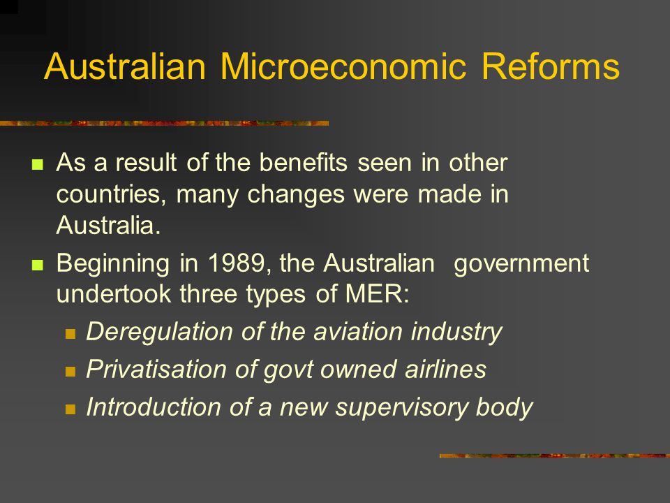 an analysis of the impact of deregulation of the airline industry