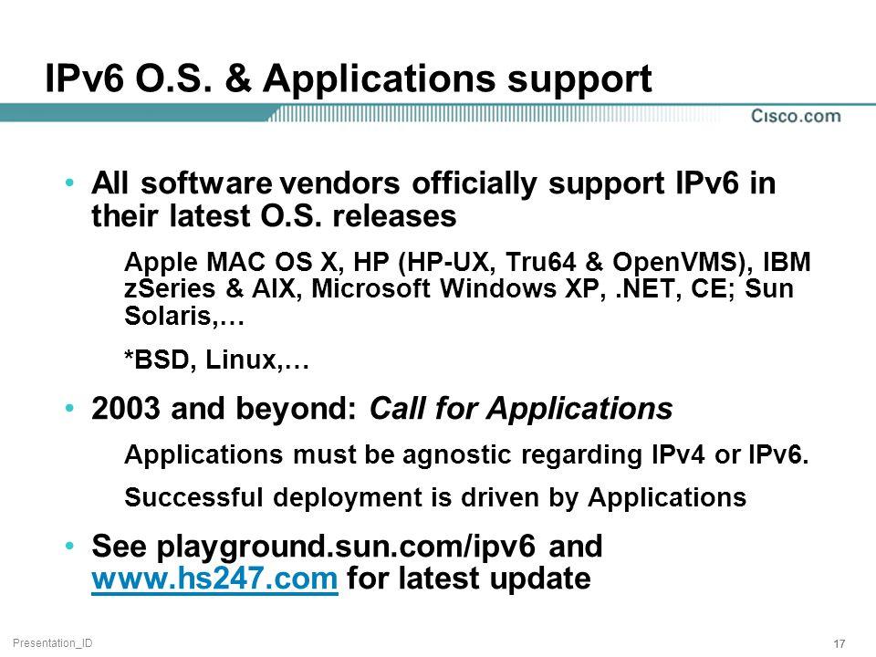Presentation_ID 17 IPv6 O.S.