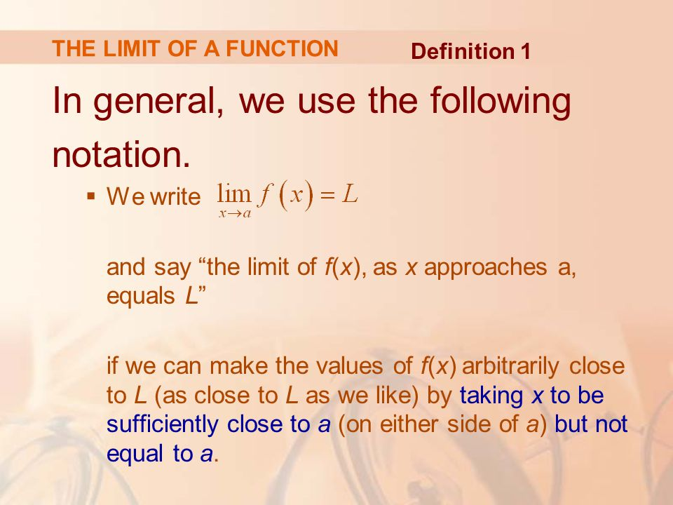 In general, we use the following notation.