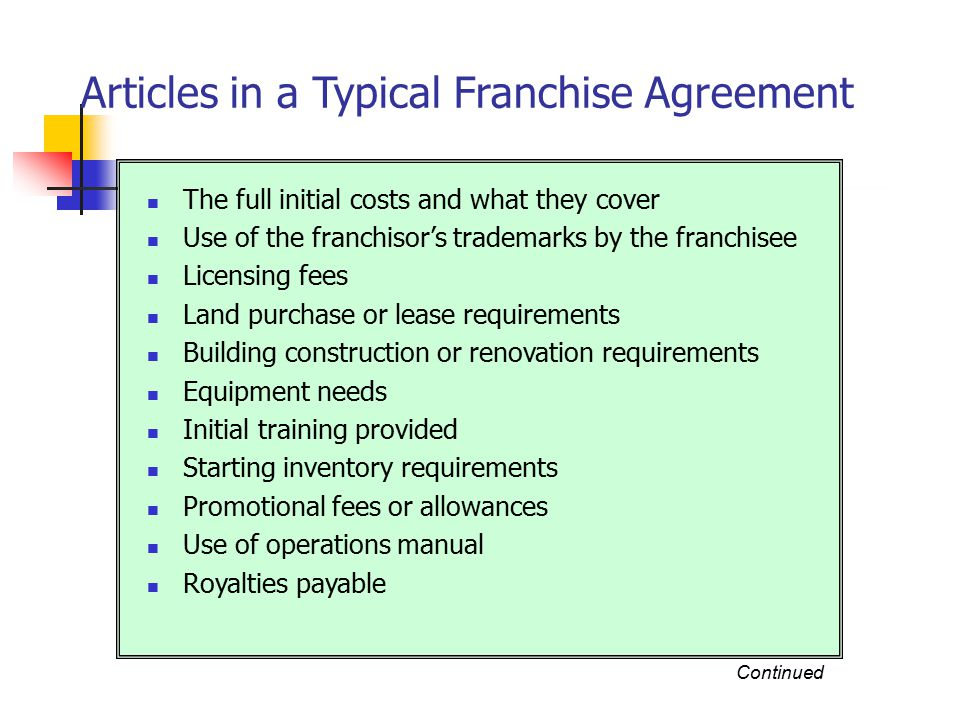 How About A Franchise Types Of Franchises Product Distribution