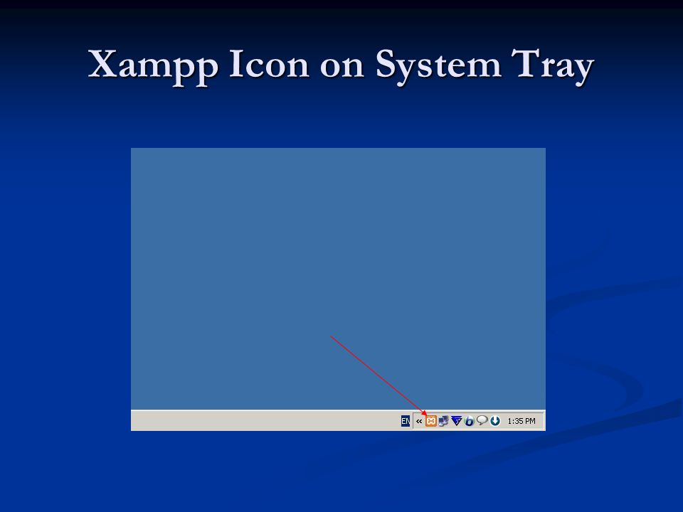 Xampp Icon on System Tray