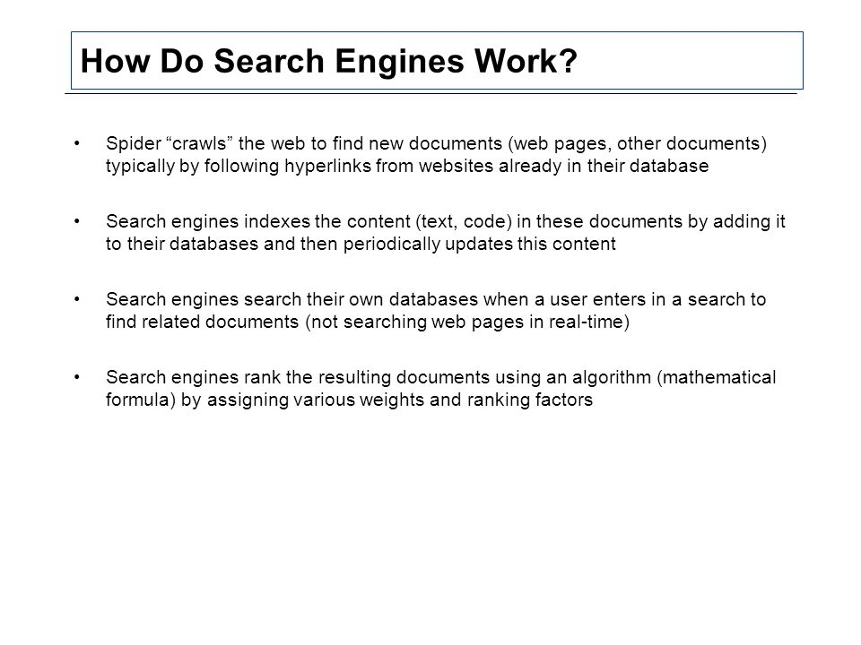 How Do Search Engines Work.