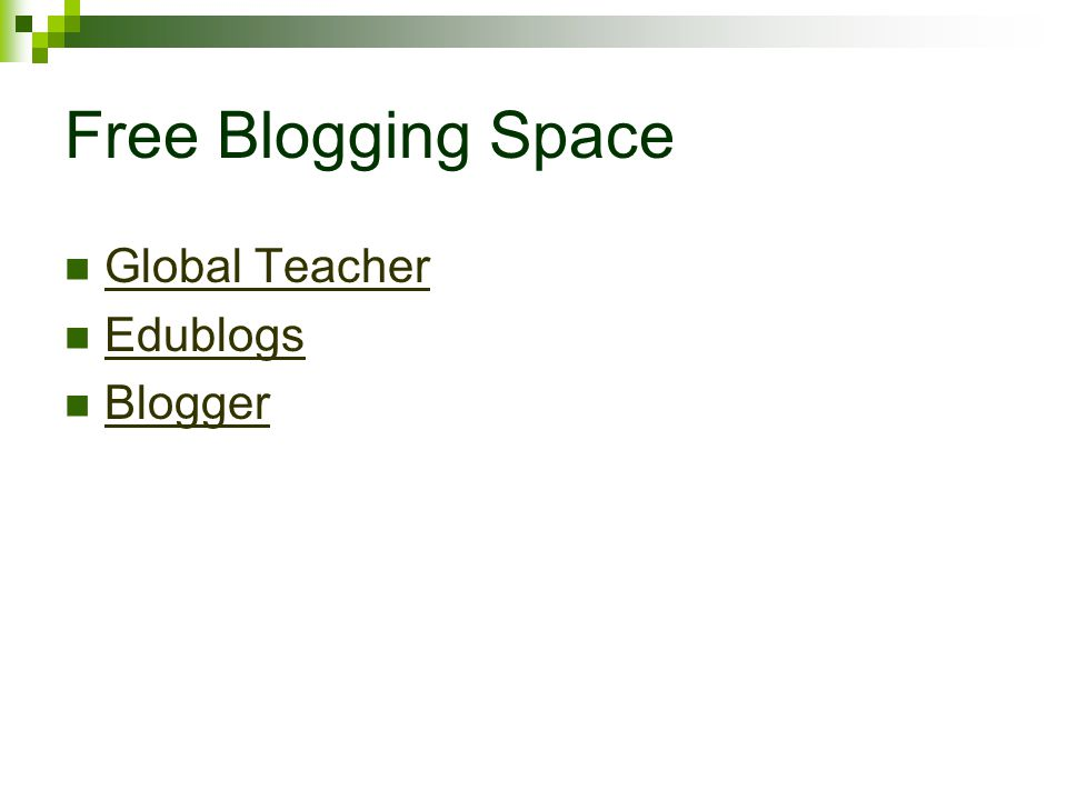 Free Blogging Space Global Teacher Edublogs Blogger