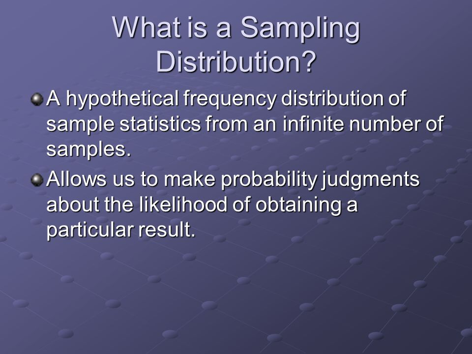 Statistics as a Probability Game Power is increased by: Power is increased by: higher alpha higher alpha larger sample larger sample lower variability lower variability larger effect size larger effect size Anything that increases power decreases beta