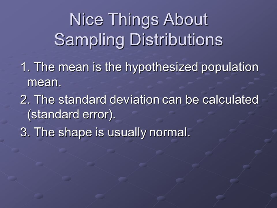 Imagining a Sampling Distribution 1.Take a random sample.