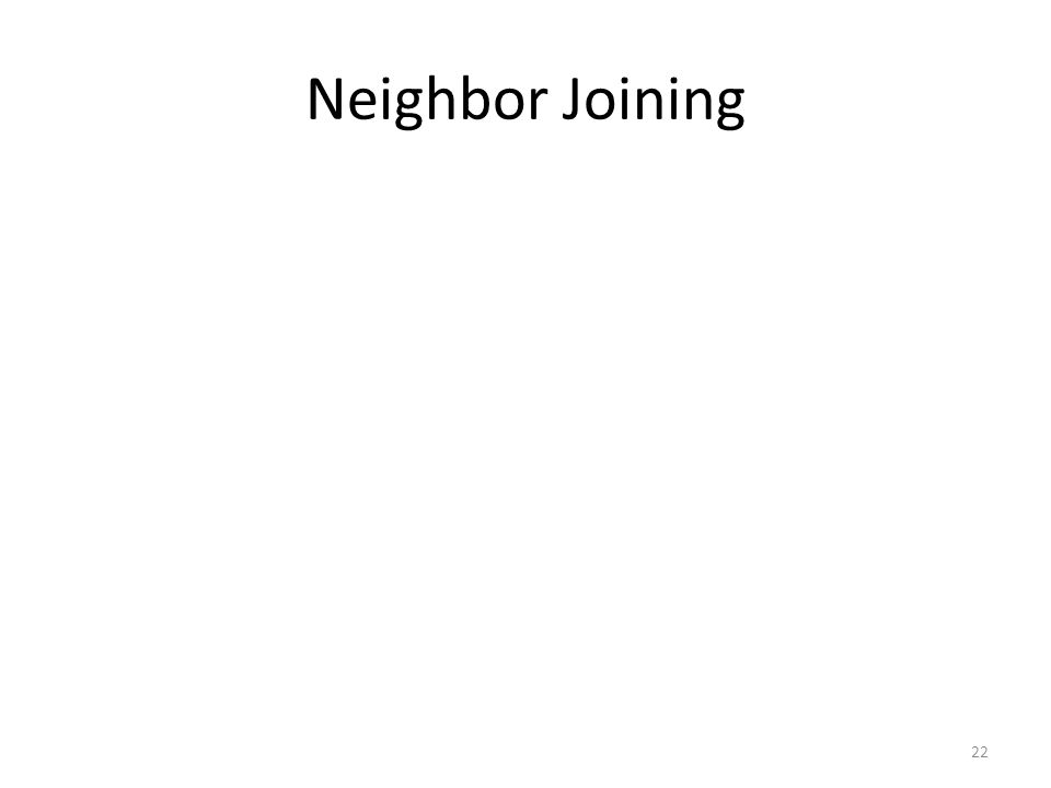 22 Neighbor Joining