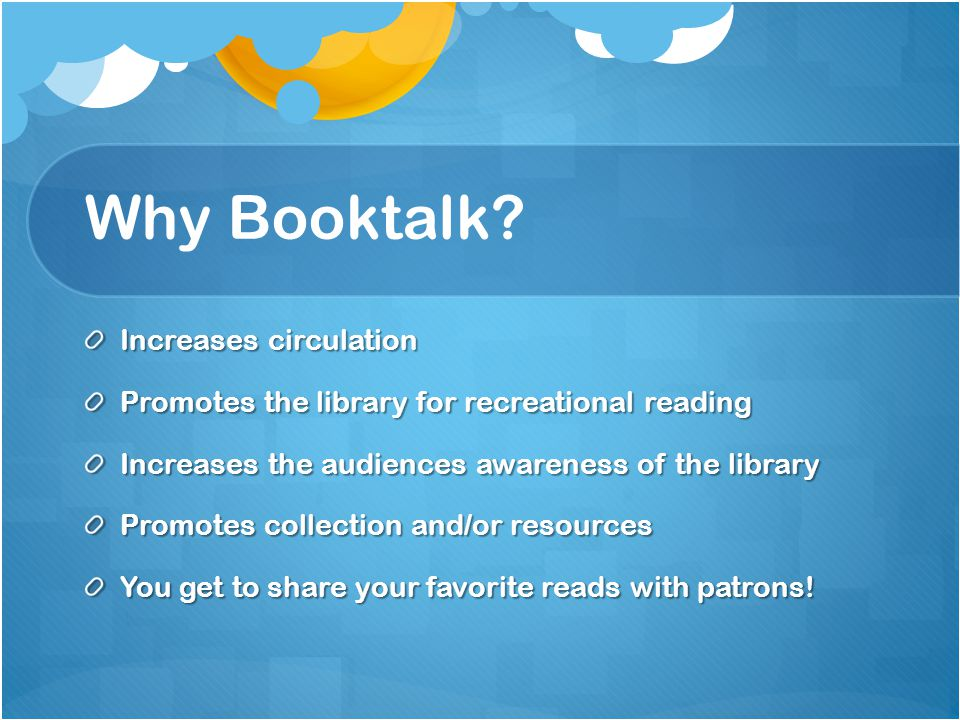Why Booktalk.