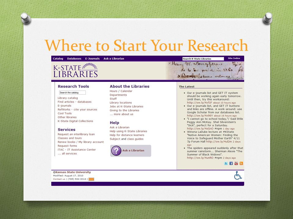 Where to Start Your Research