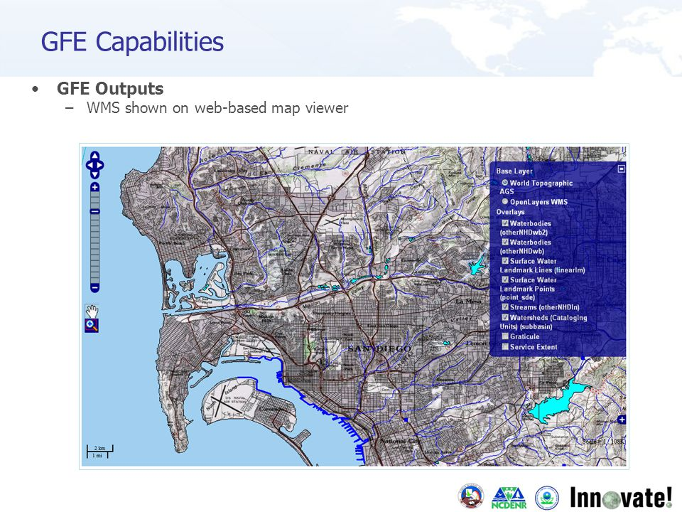 GFE Outputs –WMS shown on web-based map viewer GFE Capabilities