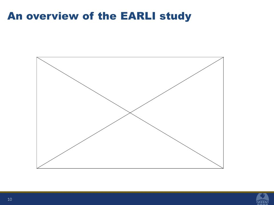 An overview of the EARLI study 10