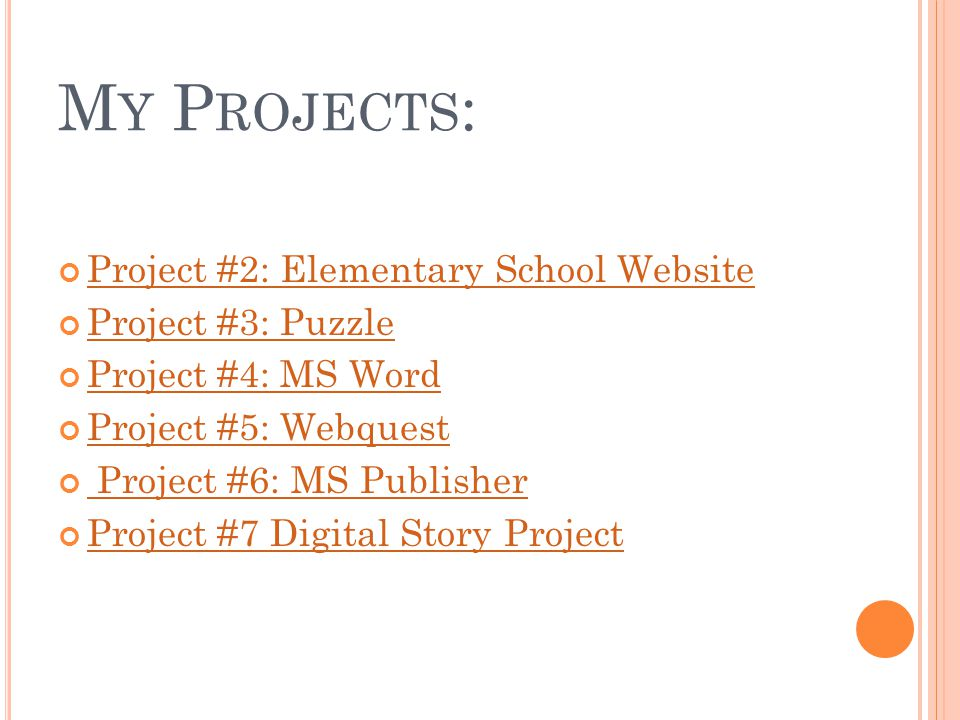 ms word projects