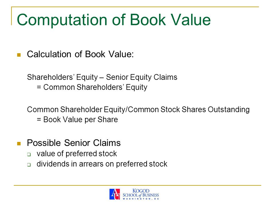 finding book value per share