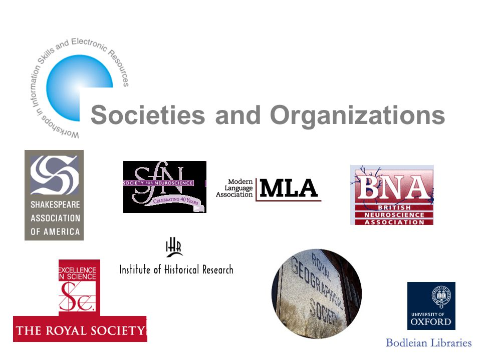 Societies and Organizations