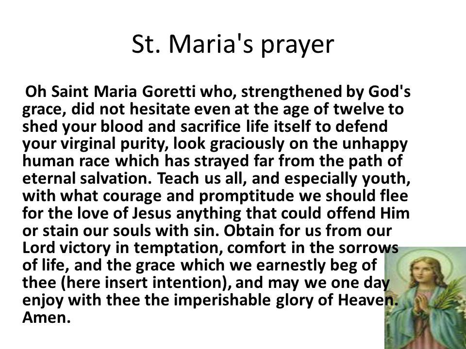 st maria goretti small but mighty