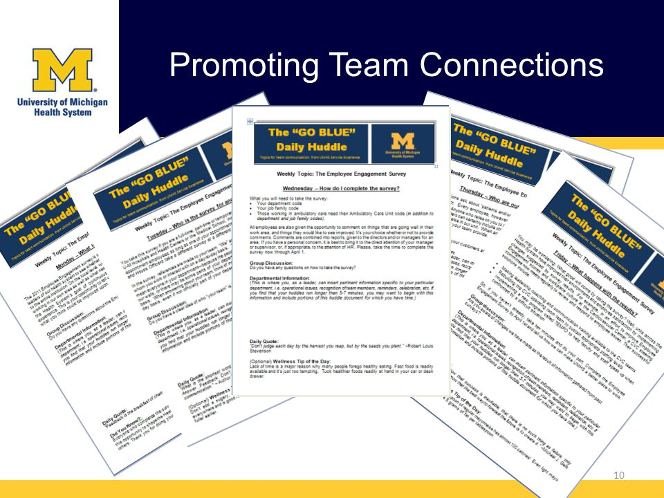 Promoting Team Connections 10