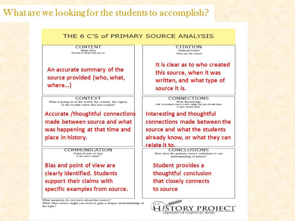 Primary Source Analysis help?