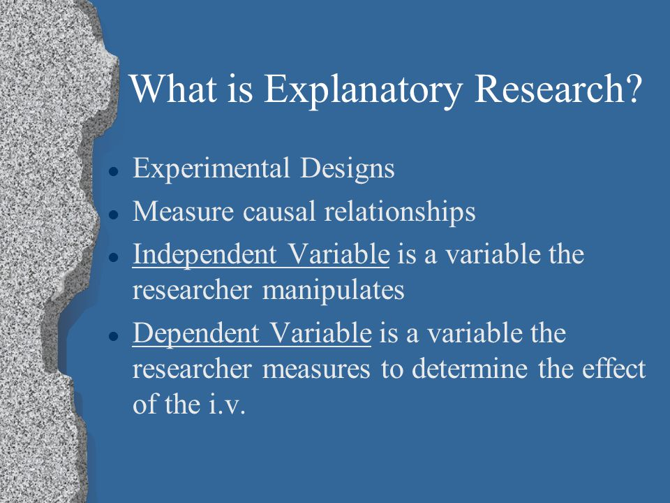 What is Explanatory Research.