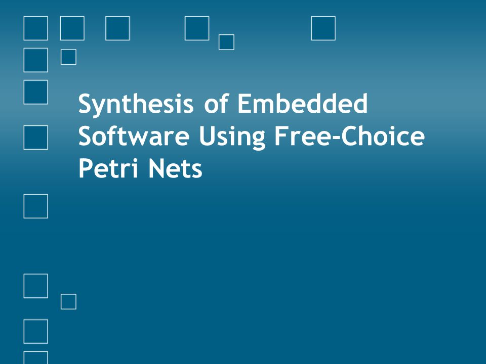 Synthesis of Embedded Software Using Free-Choice Petri Nets