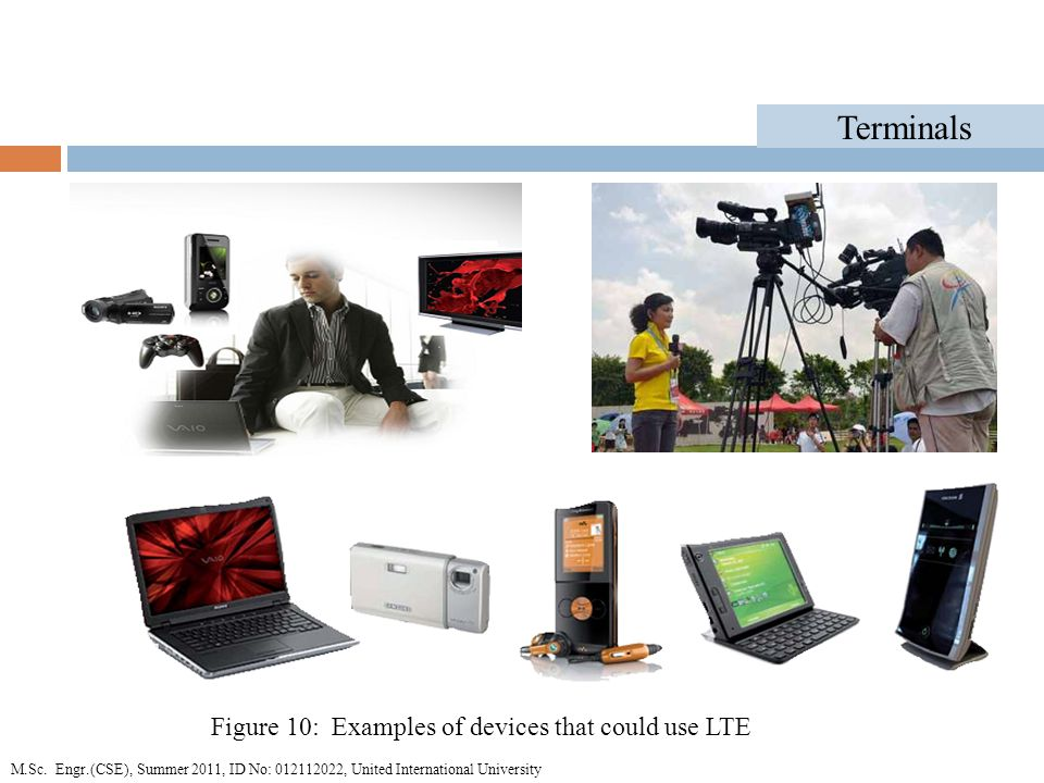 Terminals Figure 10: Examples of devices that could use LTE M.Sc.