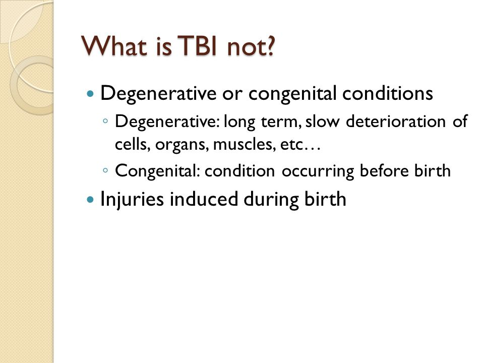 What is TBI not.