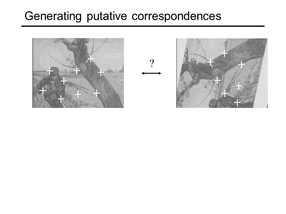 Generating putative correspondences