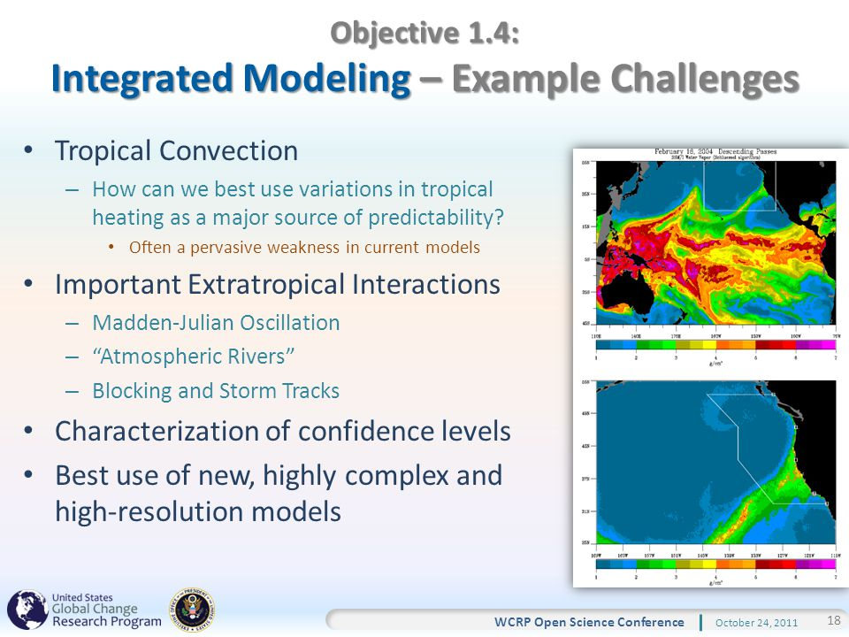 18 WCRP Open Science Conference October 24, 2011 Tropical Convection – How can we best use variations in tropical heating as a major source of predictability.