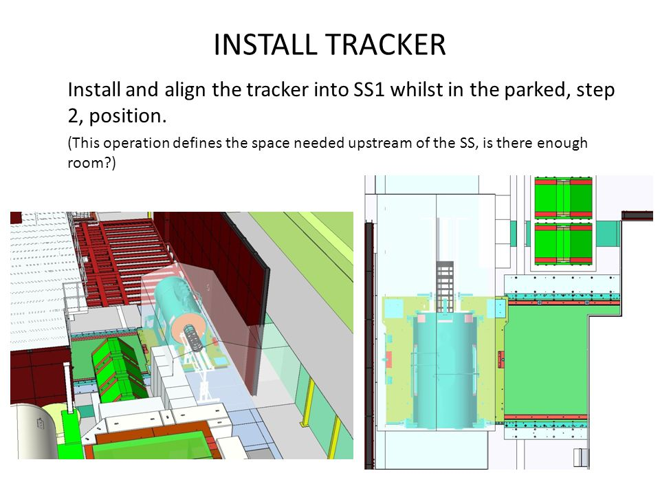 INSTALL TRACKER Install and align the tracker into SS1 whilst in the parked, step 2, position.