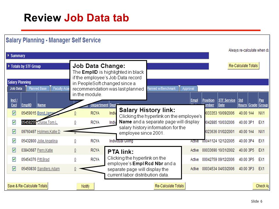 salary history page