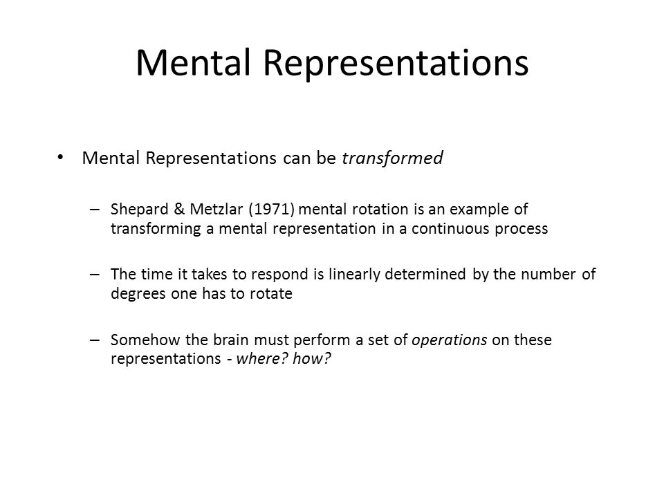 how important are mental representations in Mental skills training for sports: is fundamentally important for any implementation of cognitive-somatic and symbolical (language representations).