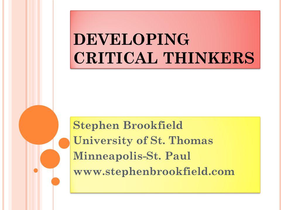 Stephen brookfield critical thinking process