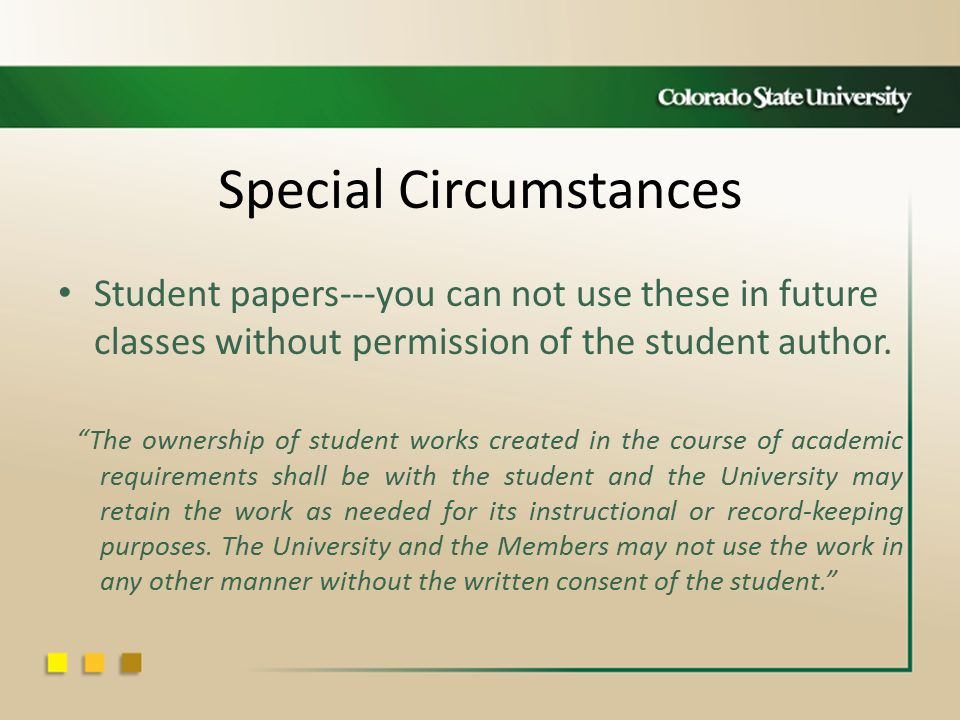 Special Circumstances Student papers---you can not use these in future classes without permission of the student author.