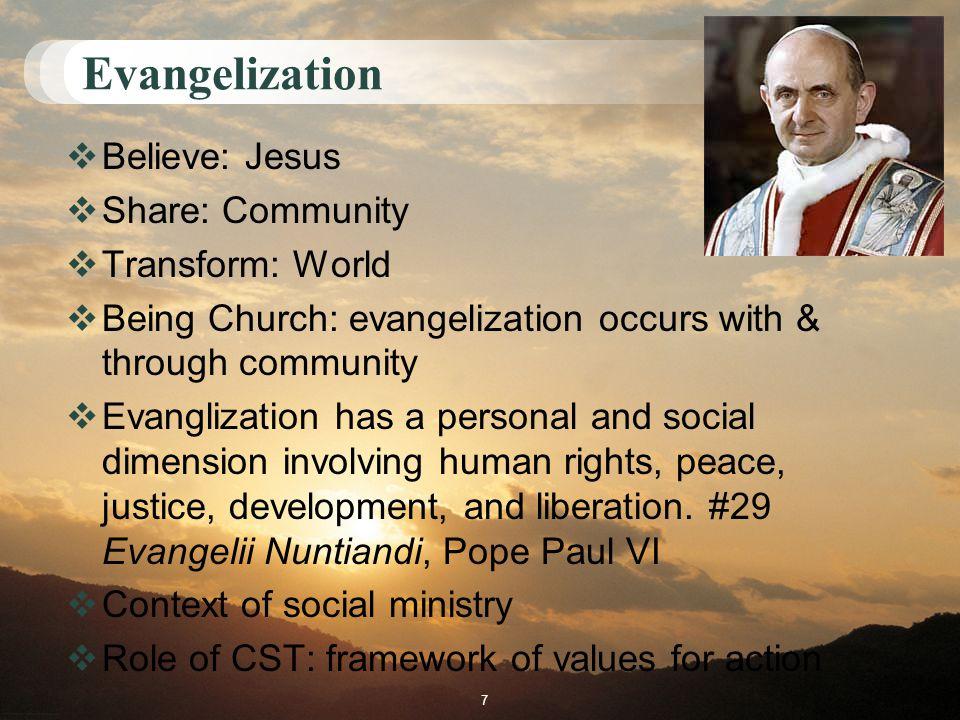 Church's social teachings- definitions?