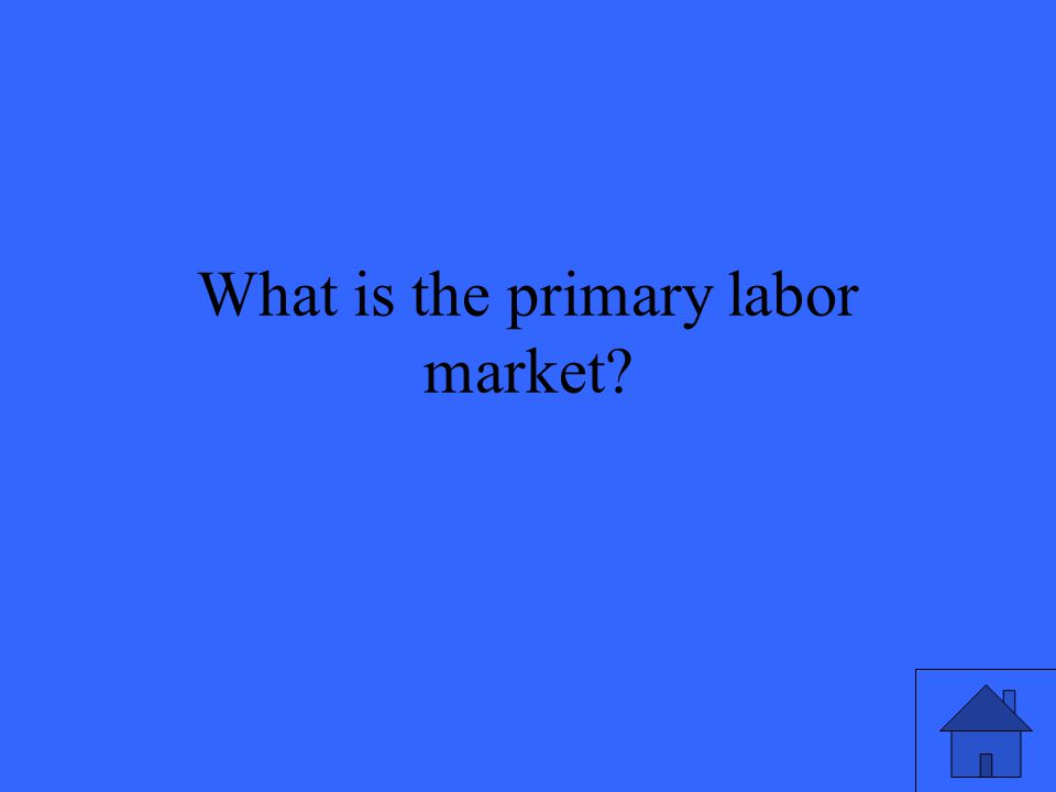 What is the primary labor market