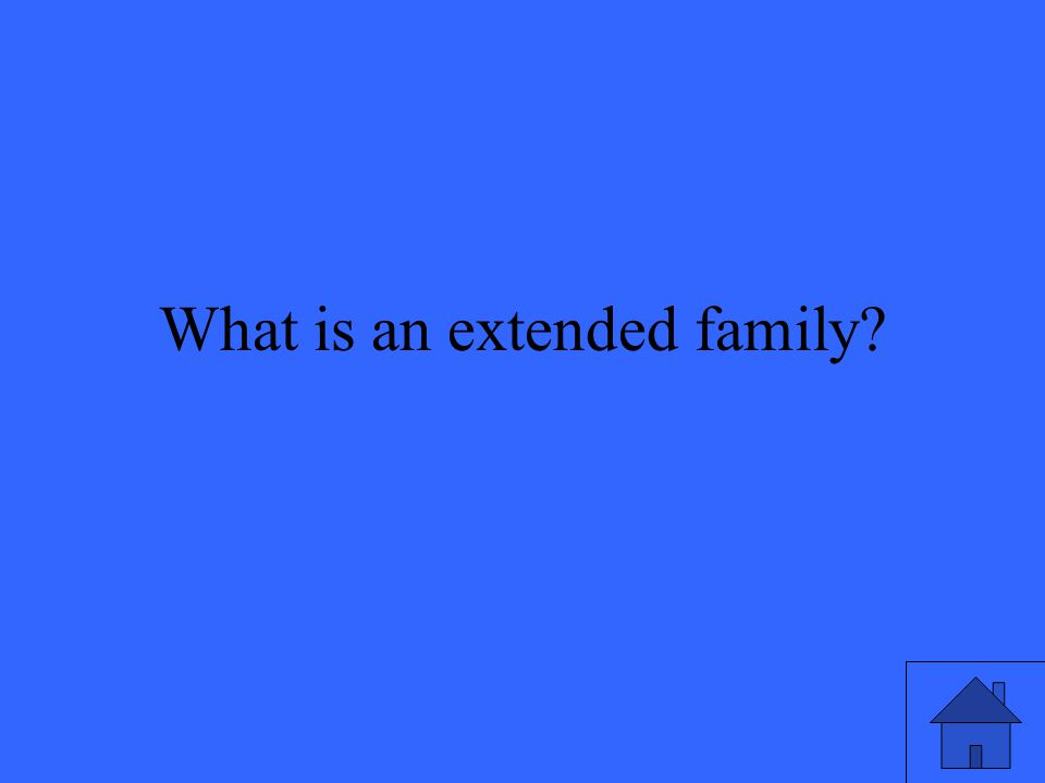 What is an extended family