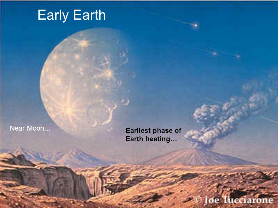 Early Earth Earliest phase of Earth heating… Near Moon…