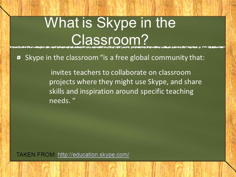 What is Skype in the Classroom.