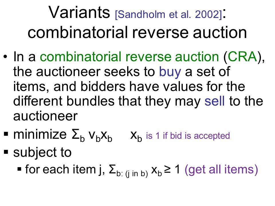 Variants [Sandholm et al.