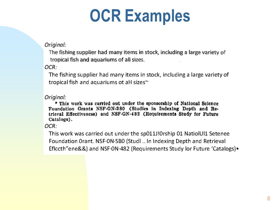 OCR Examples 8