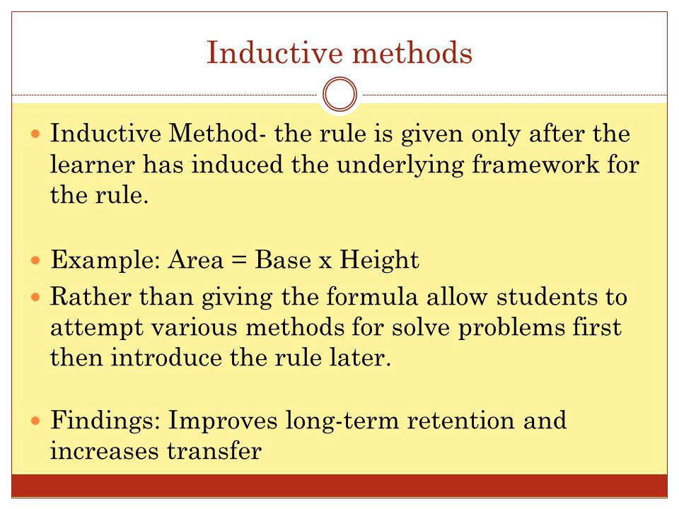 Inductive And Deductive Methods Of Teaching